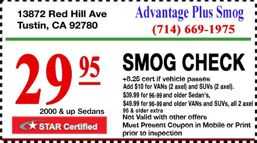 Advantage Plus Smog Test - $29.95 Smog Check with Coupon - STAR Station